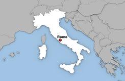 Abstracte 3d geeft van kaart van Italië terug Stock Afbeeldingen