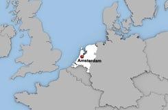 Abstracte 3d geeft van kaart van Nederland terug Stock Foto