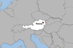 Abstracte 3d geeft van kaart van Oostenrijk terug Stock Foto