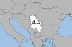 Abstracte 3d geeft van kaart van Servië terug Royalty-vrije Stock Fotografie