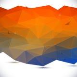 Abstracte 3D geometrische achtergrond royalty-vrije illustratie