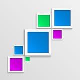 Abstracte 3D geometrische achtergrond. royalty-vrije illustratie