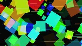Abstracte 3D geometrische achtergrond Geometrische oppervlakte in motie stock illustratie