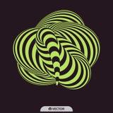 Abstracte 3d geometrische achtergrond Patroon met optische illusie Vector illustratie royalty-vrije illustratie