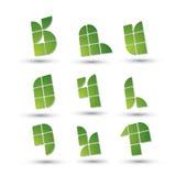 Abstracte 3d geometrische eenvoudige geplaatste symbolen, vector abstracte pictogrammen Stock Afbeelding