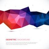 Abstracte 3D geometrische kleurrijke achtergrond. Stock Afbeeldingen