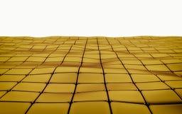 Abstracte 3d gouden geometrische achtergrond Gouden textuur met schaduw 3d geef terug Stock Afbeeldingen