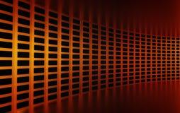 Abstracte 3d gouden geometrische achtergrond Witte textuur met schaduw 3d geef terug Stock Fotografie