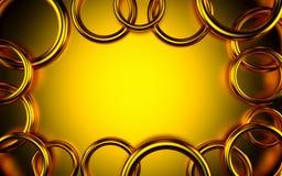 Abstracte 3d gouden geometrische achtergrond Witte textuur met schaduw 3d geef terug Stock Afbeelding