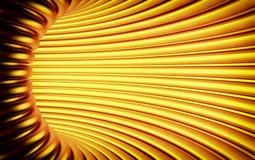 Abstracte 3d gouden geometrische lijnachtergrond Witte textuur met schaduw 3d geef terug Royalty-vrije Stock Afbeeldingen