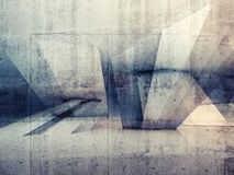 Abstracte 3d grungy concrete muurachtergrond stock illustratie
