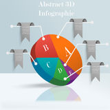 Abstracte 3D Infographic Stock Foto's