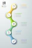 Abstracte 3d infographic 5 opties, Bedrijfs infographic concept Royalty-vrije Stock Afbeeldingen