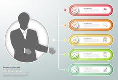 Abstracte 3d infographic 5 opties, Bedrijfs infographic concept Stock Afbeelding