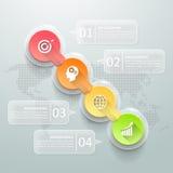 Abstracte 3d infographic 4 opties, Bedrijfs infographic concept Royalty-vrije Stock Afbeelding