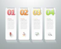 Abstracte 3d infographic 4 opties, Bedrijfs infographic concept Royalty-vrije Stock Afbeeldingen