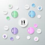 Abstracte 3d infographic 4 opties, Bedrijfs infographic concept Royalty-vrije Stock Fotografie