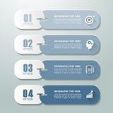 Abstracte 3d infographic 4 opties, Bedrijfs infographic concept Stock Foto