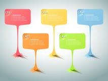 Abstracte 3d infographic 5 opties, Bedrijfs infographic concept Stock Afbeeldingen