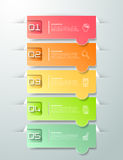 Abstracte 3d infographic 5 opties, Bedrijfs infographic concept Royalty-vrije Stock Afbeelding