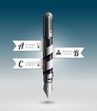 Abstracte 3d Inkt Pen Infographic Design. Stock Foto
