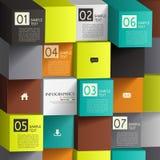 Abstracte 3d kubusinfographics Stock Afbeelding