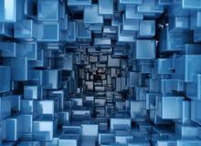 Abstracte 3d kubussen royalty-vrije illustratie