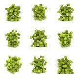 Abstracte 3d kubussen reeks Stock Foto