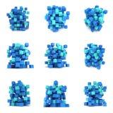Abstracte 3d kubussen reeks Royalty-vrije Stock Fotografie