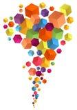 Abstracte 3D kubussen, vectorachtergrond Stock Afbeeldingen