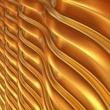 Abstracte 3d metaal golvende achtergrond Stock Fotografie