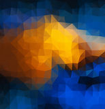 Abstracte 2D mozaïek multitriangle geometrische achtergrond Stock Fotografie