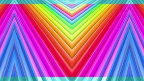 Abstracte 3d naadloze heldere achtergrond in 4k met regenboogbanden Beweging van regenboog multicolored strepen cyclisch in eenvo stock video