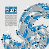 Abstracte 3d netwerk vectorachtergrond, duidelijke eps 8 Stock Foto's