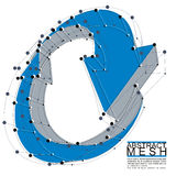 Abstracte 3d netwerk vectorachtergrond, technologieidee Stock Fotografie