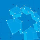 Abstracte 3d netwerk vectorachtergrond, technologieidee Royalty-vrije Stock Afbeeldingen