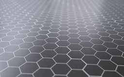 Abstracte 3d oppervlakte met zeshoeken Royalty-vrije Stock Foto