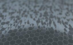 Abstracte 3d oppervlakte met zeshoeken Royalty-vrije Stock Afbeelding