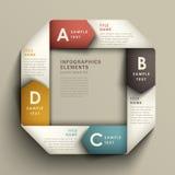 Abstracte 3d origamidocument infographics Stock Afbeeldingen
