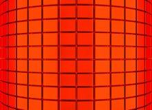 Abstracte 3d rode geometrische achtergrond Witte textuur met schaduw 3d geef terug Stock Fotografie