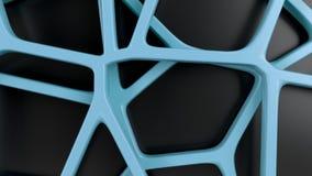 Abstracte 3d rooster op zwarte achtergrond vector illustratie