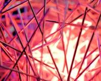 Abstracte 3d scène met neonlichten Stock Fotografie