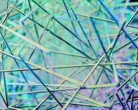 Abstracte 3d scène Metaal en kleur Royalty-vrije Stock Foto's