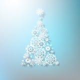Abstracte 3D Sneeuwvlokkenkerstboom. EPS 10 Stock Foto's