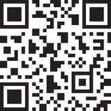 Abstracte 2D streepjescode Zwart-witte illustratie Royalty-vrije Stock Foto