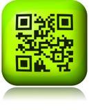 Abstracte 2D streepjescode Zwart-witte illustratie Royalty-vrije Stock Afbeeldingen