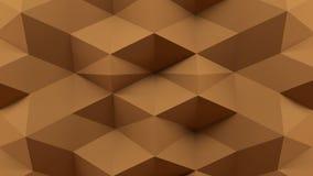 Abstracte 3D Teruggevende Bruine Achtergrond stock fotografie