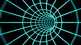 Abstracte 3d tunnel van een net vector illustratie