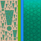 Abstracte 3D vectorachtergrond (ontwerp) Stock Afbeeldingen