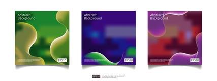 abstracte 3d vloeibare van de achtergrond stroomkleur grafische ontwerpreeks De futuristische koele vloeibare vorm van de gradiën Royalty-vrije Stock Foto's